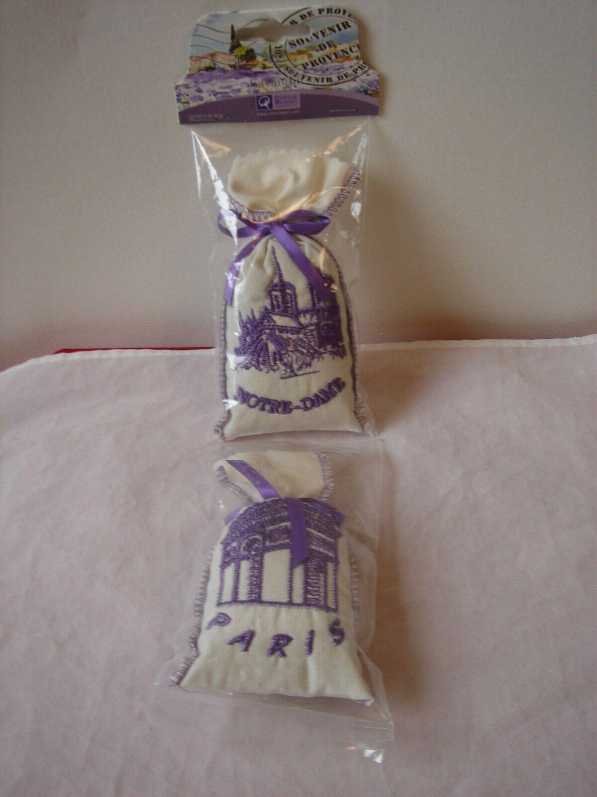 Lavendelbeutel Duftsäckchen 2 Stück Souvenir aus Frankreich in OVP