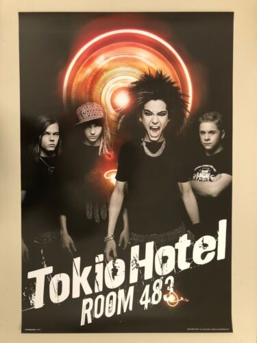 TOKIO HOTEL,ROOM 483,PHOTO BY THOMAS RABSCH,AUTHENTIC 2007 POSTER