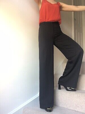 """hotel particulier black long  flare trousers size34~8 uk w28""""/32""""L PPR260€"""
