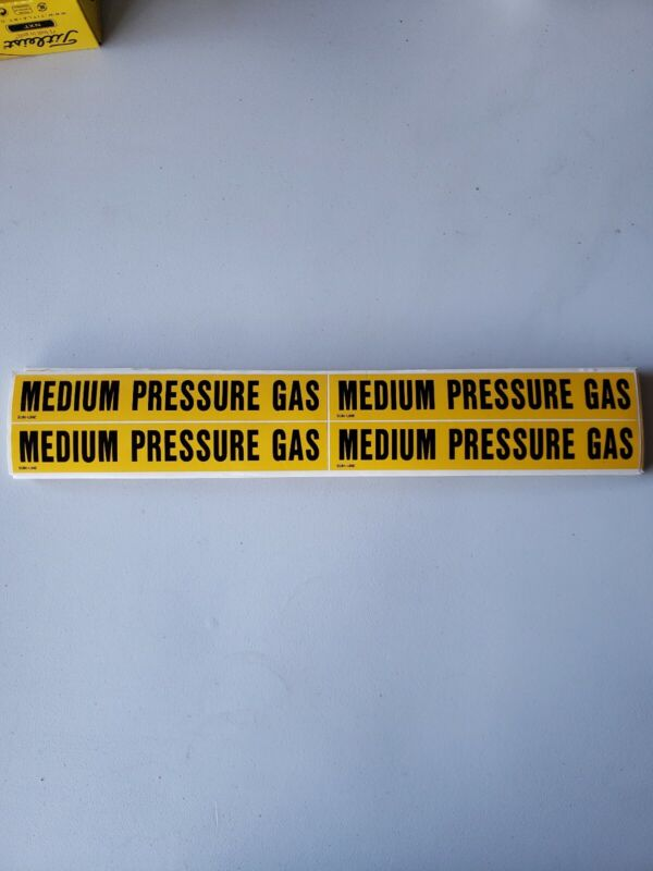 Medium Pressure Gas Pipe Markers