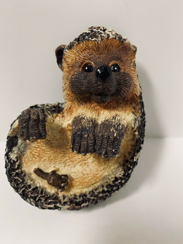 Adorable Resin HEDGEHOG Curled Up Abt 4 Inches