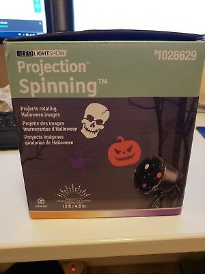 Halloween Gemmy LED Light Show Projection Spinning Light w/stake (1026629)](Purple Halloween Lights)