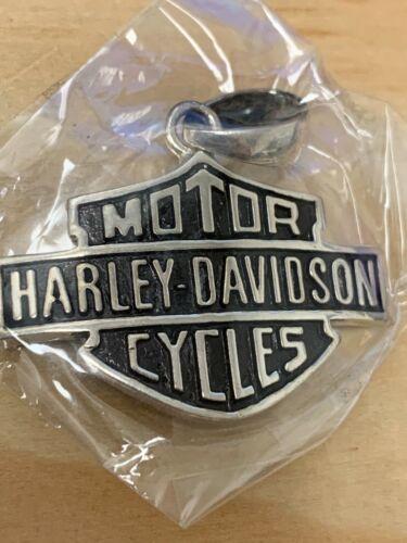 Harley Davidson Logo Pendant 925 Sterling Silver Medium