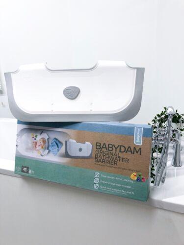 Ex Display, Still Boxed BabyDam Bathwater Barrier Baby Tub - White/Grey