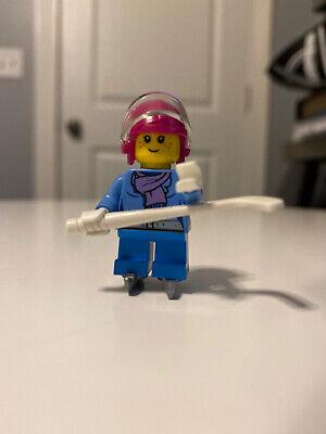 LEGO City Minifigure HOL081 Female Player Girl Ice Hockey Player Girl new New