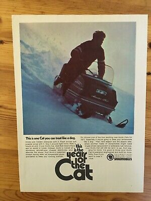 1970 CANADIAN AD CANADA SKIDOO SNOWMOBILE SLED ARCTIC CAT YEAR OF CAT
