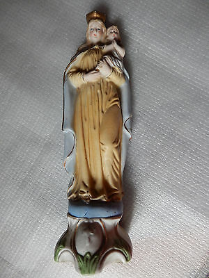 Maria mit Jesuskind Bisquitporzellan mit Vergoldungen um 1900, Marienverehrung