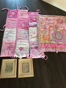 BABY GIRL ROOM STUFF BEDDING AND PICTURES