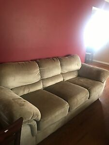 Beige 4 piece couch set