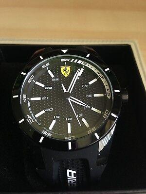 Scuderia Ferrari 0830249 Mens Red Rev Black Dial Strap Watch