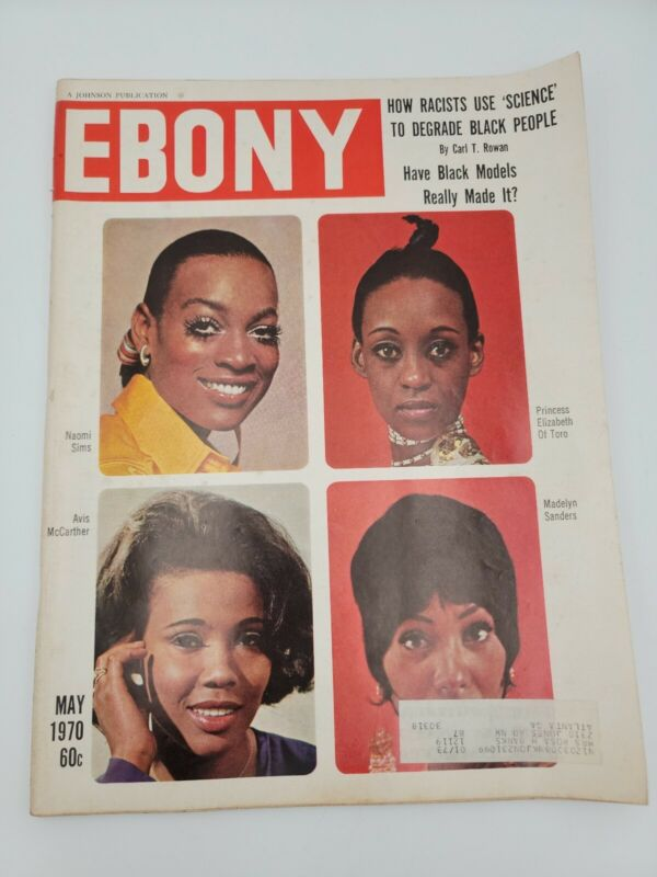 VINTAGE EBONY MAGAZINE-MAY 1970-BLACK MODELS-HAIR MUSICAL-RACISTS USE SCIENCE