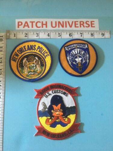 LOT OF 3 DIFFERENT NEW ORLEANS  SHOULDER PATCHES  G051