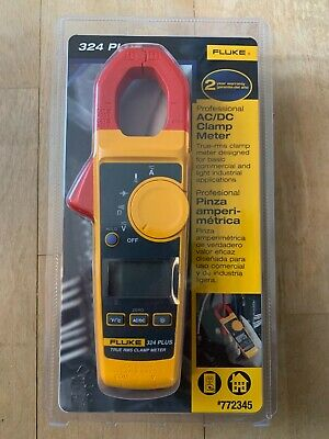 New Fluke 324 Plus Professional True Rms Acdc Clamp Meter Temperature Volt