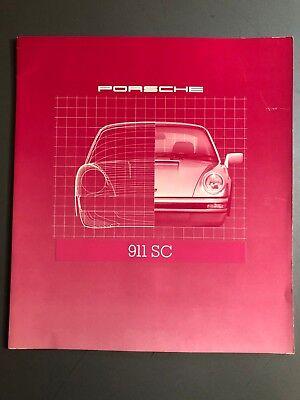 1980 Porsche 911 SC DELUXE Showroom Advertising Brochure Awesome L@@K XLNT