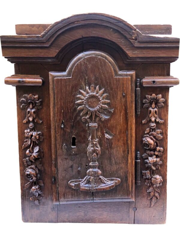 French Oak Louis XVI Period Antique Reliquary Cabinet 1750