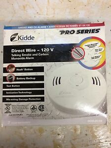 Brand new Kidde direct wire ac smoke and carbon monoxide alarm