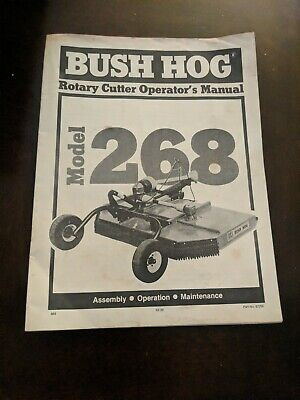 Bush Hog Model 268 Rotary Cutter Operators Manual