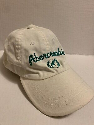 Abercrombie & Fitch AF Vintage Woman's Baseball Cap Hat White O/S