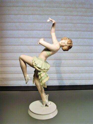 Rosenthal Porcelain Art Deco Figurine Dancer by Gustav Oppel