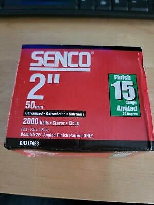Senco 2 15 Gauge Galvanized Finish Nails 2000 Boc