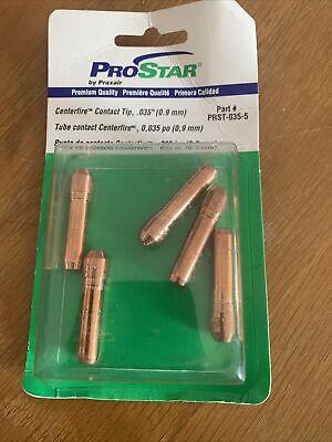 5 Prostar Praxair Prst-035 Bernard Centerfire Mig Contact Tips .035 0.9mm