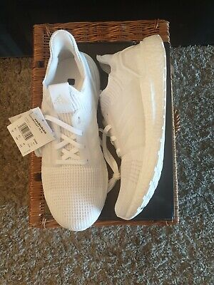 Adidas white ultra boost 19 m 10.5 uk triple white running trainers