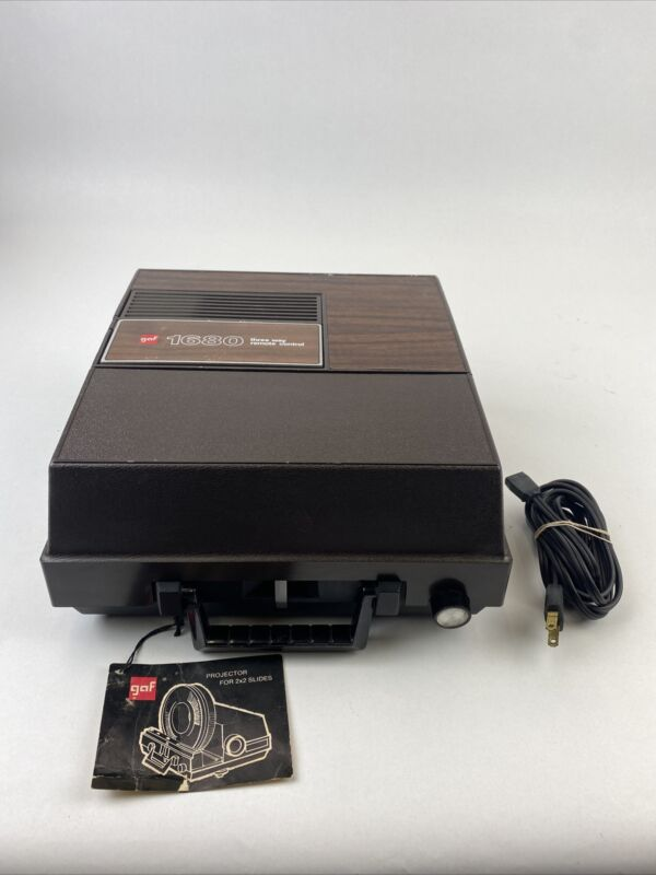 VTG GAF 1680 three way remote control Slide Projector TESTED and WORKING!!