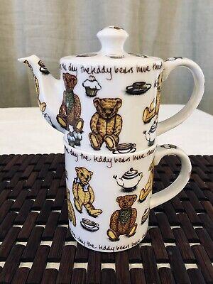 Tea & Coffee cup for One 3 piece set ted-tea by Paul Cardew Teddy Bears Picnic