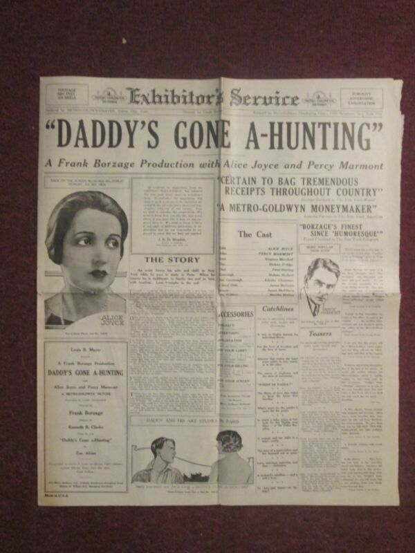 Daddy`s Gone A Haunting- Original 1922 Pressbook - Alice Joyce