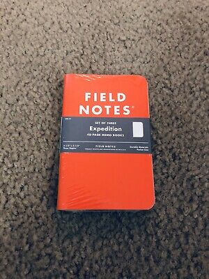 Field Notes Expedition 3-Pack Notebooks Waterproof Paper FNC-17 Sealed NEW