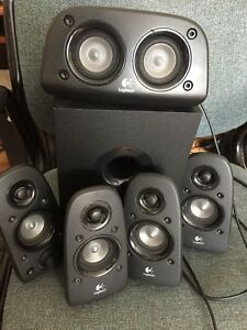 6 piece speaker set for a computer