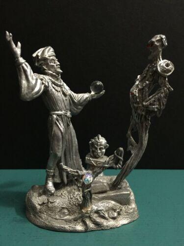 RARE Gallo Pewter Metal Wizard Mage Magic Conjure Skeleton Spirit Ghost Figurine
