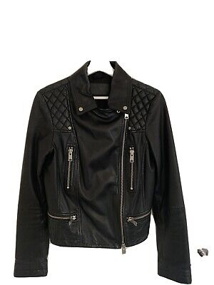 All Saints Leather Jacket Size 12