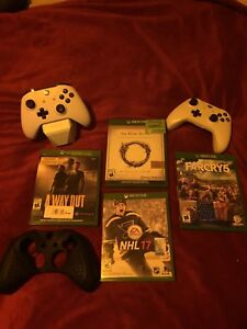 Xbox one S and 2 controllers