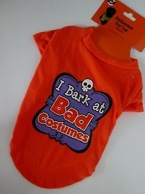 I BARK AT BAD COSTUMES Pet TEE M DOG SHIRT Halloween MEDIUM T-Shirt FUNNY Cute