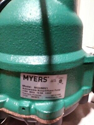 Myers Mdc50v1 - 12 Hp Cast Iron Sump Pump W Vertical Float Switch