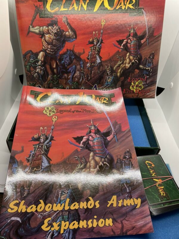 Clan War: Shadowlands Army Expansion Book, Cards And Box NO FIGURES AEG 1999