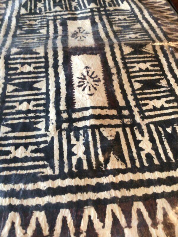 VTG Handmade FIJI Bark Tapa Cloth TIKI. Museum Quality Sealed Leaflet NOS