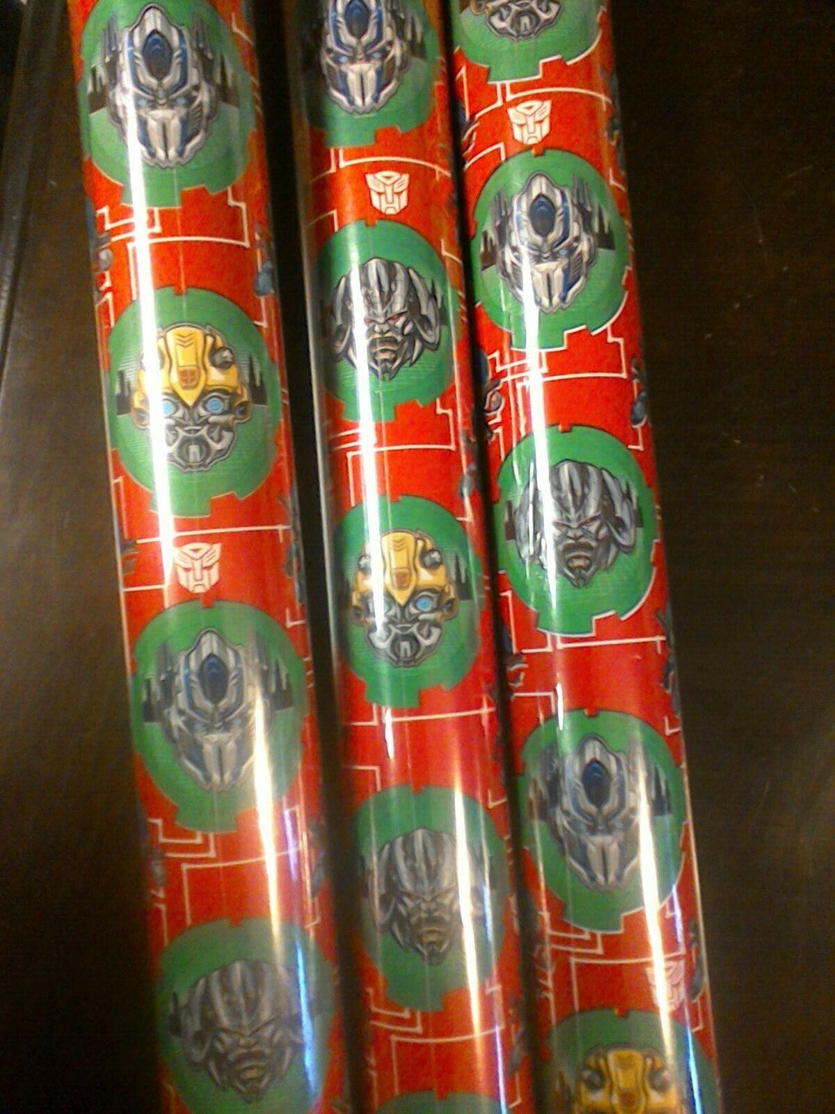 transformers gift wrap wrapping paper roll 70