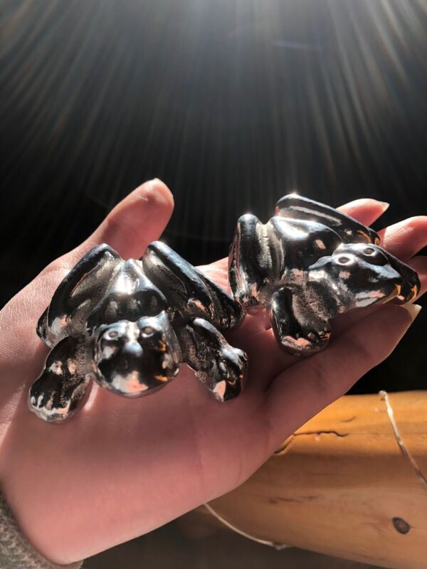 Anatomically Correct Male & Female Metal Frogs