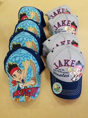 Bulk Lot of 8 Disney Jake and the Neverland Pirates Baseball Cap Size Toddler ](Jake And The Neverland Pirates Jacket)