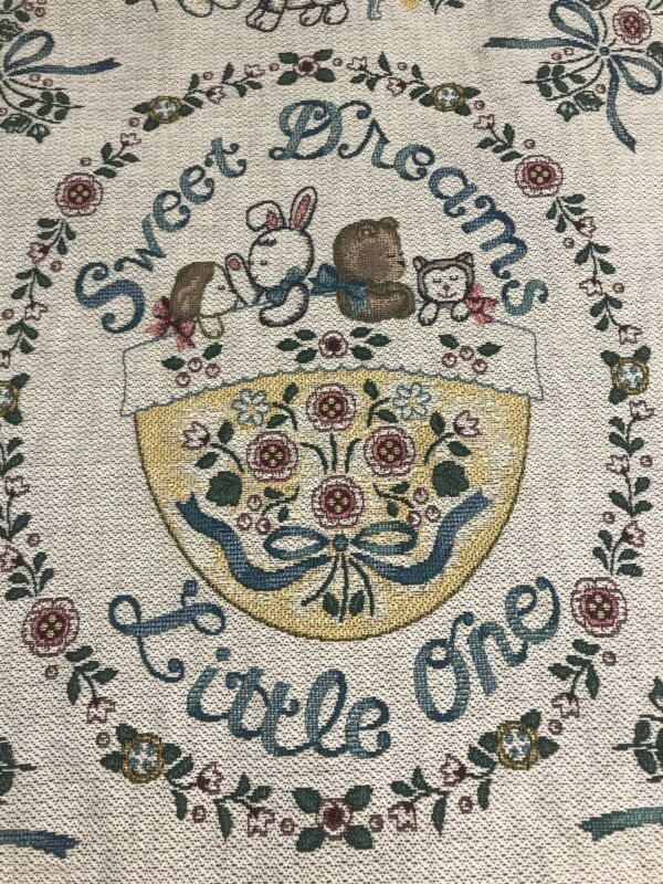 VTG Sweet Dreams Baby Nursery Tapestry Embroidered Goodwin Weaver Wall Decor
