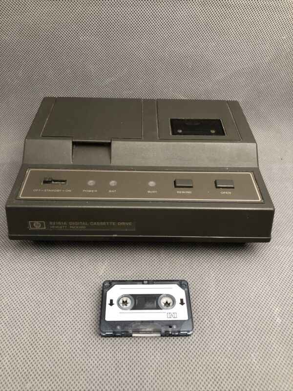 HP 82161A HP-IL Cassette Drive For HP- 41C 41CV 41CX 71B 75C 75D With Tape
