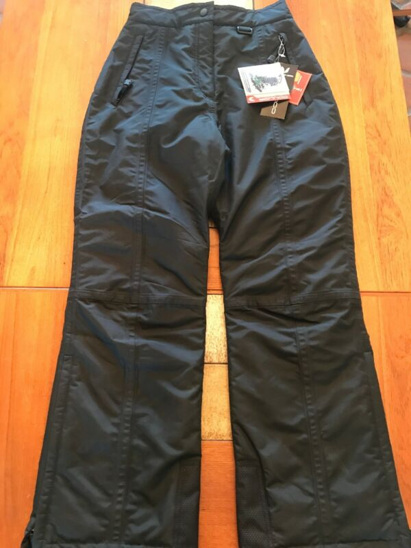 NWT Couloir Rufftex Ski Pants Women's Black 10 Regular Snow Snowboarding New!