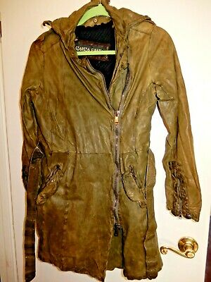 GIORGIO BRATO olive green leather mens jacket Size 42