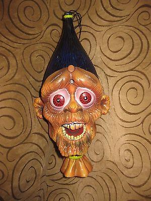 Vtg Gemmy Halloween Talking Screaming Shrunken Animated Head Prop *SEE VIDEO*