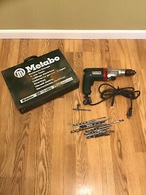 Metabo Model 751 Hammer Drill Concrete Wood Corded Older Style Case Bits