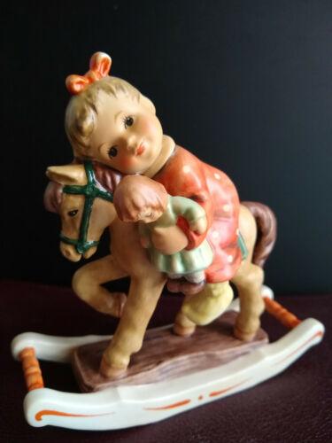 Hummel Figurine GIDDY UP #2303 TMK9 Girl Doll Rocking Horse MSRP $295 MINT