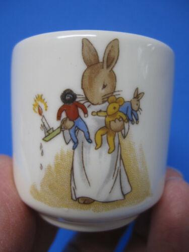 Royal Doulton Bunnykins Coquetier Egg Cup Bedtime Candle / Trumpeter