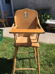 Antique Wooden High Chair